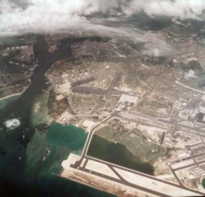 Hickam Air Force Base, Hawaii, with Reef Runway in foreground, November 9, 1978.