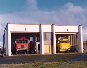 Molokai Airport, Molokai, Aircraft Rescue Fire Fighting Station, January 12, 1976.