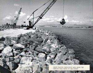 Reef Runway Construction, Honolulu International Airport, 1975