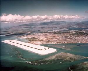 Reef Runway Construction, Honolulu International Airport, December 1, 1976.