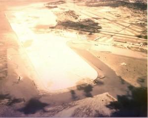 Reef Runway Construction, Honolulu International Airport, 1976.