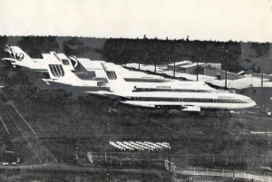 United and JAL aircraft at Hilo International Airport 1980.