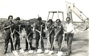 Groundbreaking for new Aircraft Rescue and Fire Fighting Station, Keahole Airport, Kailua-Kona, Hawaii, 1980.