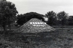 Entrance sign, Keahole Airport, Kailua-Kona, Hawaii, 1980s.