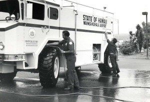 Aircraft Rescue and Fire Fighting Station, Waimea Kohala Airport, Hawaii, 1984.