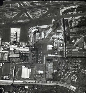 Honolulu International Airport, showing Central and Ewa Concourses, and Interisland Terminal, 1980.