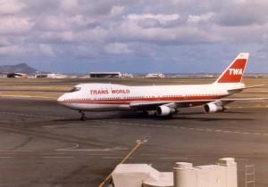 Trans World Airways at Honolulu International Airport, 1985.