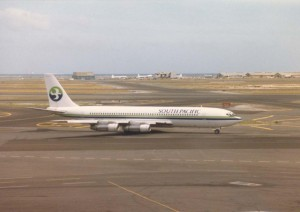 South Pacific Airlines at Honolulu International Airport, 1986.