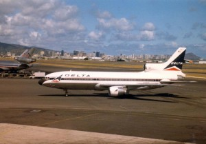 Delta Airlines at Honolulu International Airport, 1986.