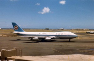 All Nippon Airlines at Honolulu International Airport, 1986.