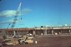 Construction of the Commuter Terminal, Honolulu International Airport, 1987.