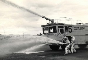 Hot Fire Drill, Aircraft Rescue and Fire Fighting Station, Honolulu International Airport, November 1984.