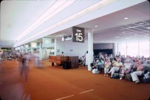 Gate 15, Central Concourse, Honolulu International Airport, 1987.