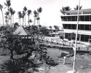 Japanese Garden, Honolulu International Airport, 1980s.