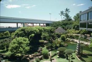 Japanese Garden, Honolulu International Airport, 1987.