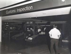 U.S. Customs, Honolulu International Airport, 1985.