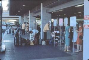 Group Tour Area, International Terminal, Honolulu International Airport, 1987.