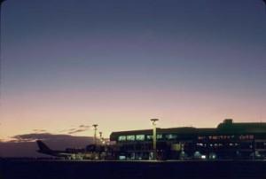 Ewa Concourse, Honolulu International Airport, 1987.