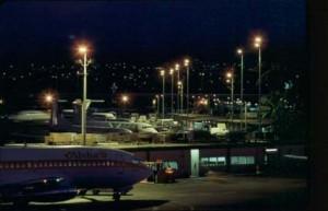 Hawaiian Airlines at Honolulu International Airport, October 1987.