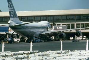 Air New Zealand at Honolulu International Airport, 1987.