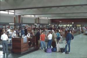 Ticket Lobby, Honolulu International Airport, 1983.