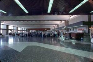 Ticket Lobby, Honolulu International Airport, 1987.