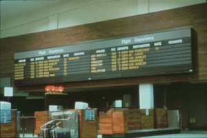 Flight Information System, Honolulu International Airport, 1987.