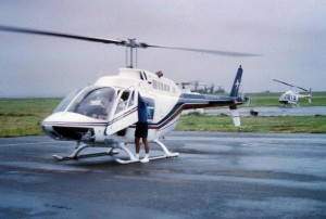 Helicopters at Honolulu International Airport, 1989.