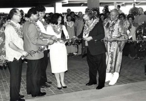 Dedication ceremony for opening of new Lihue Airport Terminal, February 25, 1987.