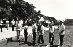 Groundbreaking ceremony for new Commuter Terminal, Kahului Airport, 1985.