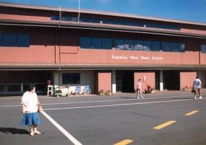 Kapalua Airport September 1989