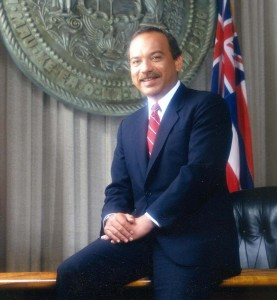 Hawaii Governor John D. Waihee
