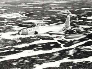Lockheed T-33 Shooting Star at Hickam Air Force Base, 1980s.