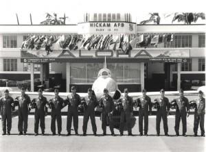 T-33A Shooting Star at Hickam Air Force Base, Hawaii, September 27, 1986.