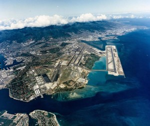 Hickam Air Force Base and Honolulu International Airport, July 14, 1992.