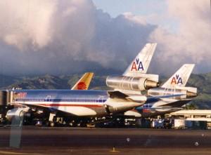 American Airlines at Honolulu International Airport, 1994.