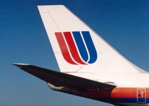 United Airlines at Honolulu International Airport, 1994.