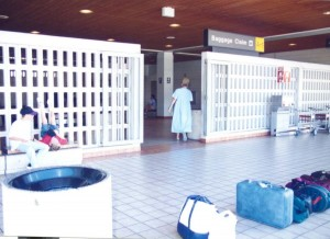 Baggage Claim, Commuter Terminal, Honolulu International Airport, 1995.