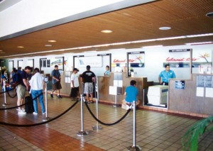 Island Air Ticket Counter, Commuter Terminal, Honolulu International Airport, 1995