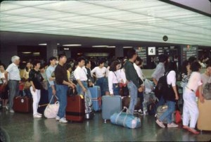 International Arrivals Building, Honolulu International Airport, 1990s.
