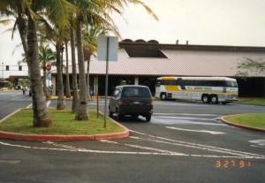 Group Tour Area, Lihue Airport Terminal, Kauai, March 27, 1991.
