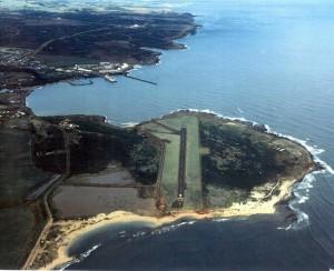 Port Allen Airport, Kauai, with Port Allen Harbor in background, January 22, 1993.