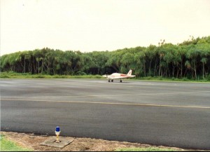 Air craft arriving at Hana Airport, Maui, September 20, 1990.