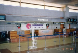 Ticket Lobby, Kahului Airport, Hawaii, December 14, 1993.