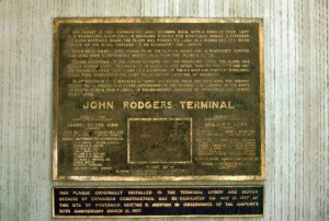 John Rodgers Terminal Plaque, Honolulu International Airport, 1991.