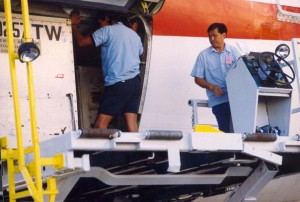 Ramp activity at Honolulu International Airport, 1994.