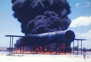 Aircraft Rescue and Fire Fighting Station exercise, Honolulu International Airport, 1994.