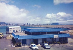 Aircraft Rescue and Fire Fighting hot fire drill at burn pit, Honolulu International Airport, 1994.