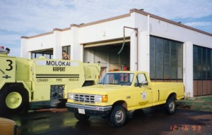 Aircraft, Rescue and Fire Fighting Station, Molokai Airport, Hawaii, December 16, 1993.