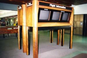 Flight Information System displays, Honolulu International Airport, 1994.